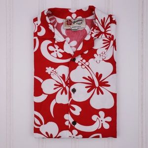 Hilo Hattie Shirt Large Hawaiian Shirt (Shrunk) L